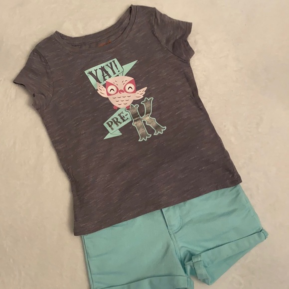 """Target """"Yay! Pre-K"""" Outfit {Lot of top & shorts}"""